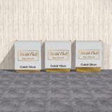 Recepcja lada biały lacobel ze złotym lustrzanym logo 160x120x50